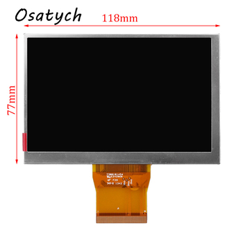 CPT 5inch LCD Screen CLAA050LA0ACW For Car Navigation Display MP4 Display Panel Monitor Digitizer