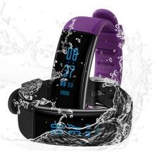 2017 SKF-DB03 умный Браслет Часы Приборы для измерения артериального давления Фитнес трекер сердечного ритма Мониторы Smart Band Водонепроницаемый IP68 плавание
