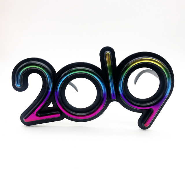 bf70c74ab0 Colorful 2019 New Years Eve Glasses Novelty Sunglasses Party Photo Prop  Christmas Party Accessories Eyewear Party