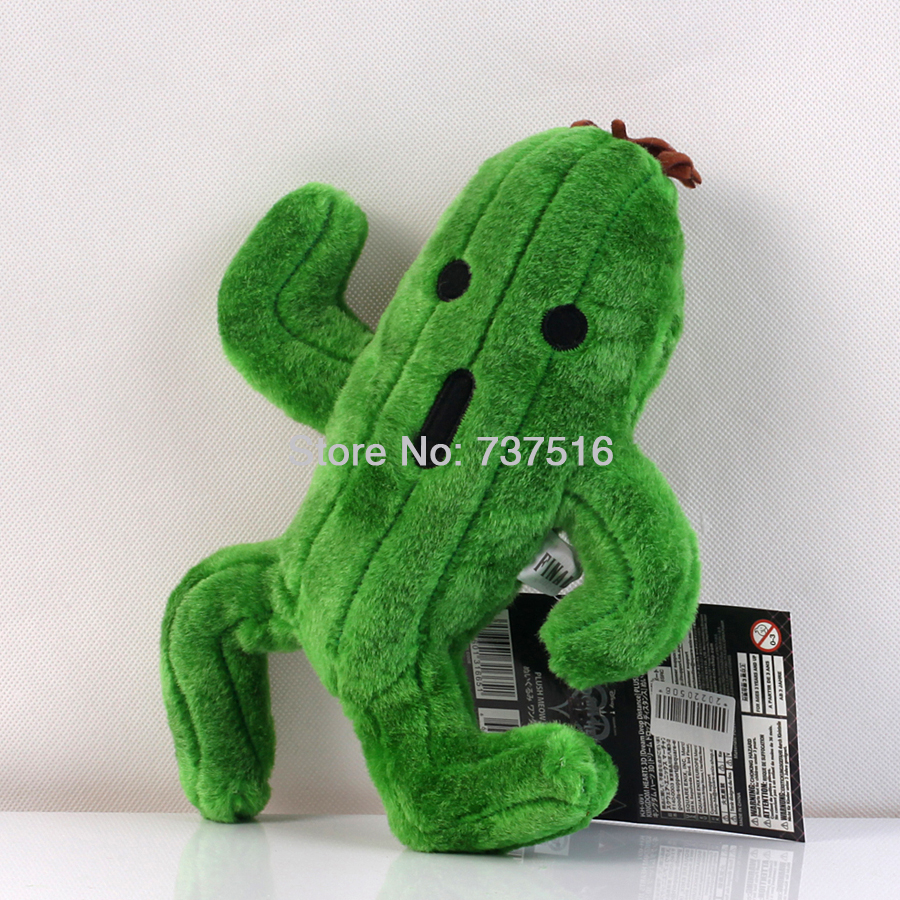 New Final Fantasy Sabotender Cactuar Plush Plants 9.8 inch Stuffed Doll Toy Xmas Gifts image