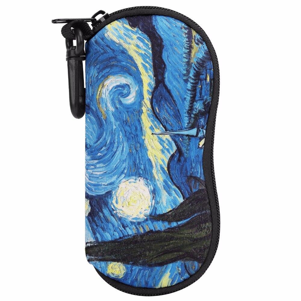 MoKo Sunglasses Soft Case Ultra Light Neoprene Zipper Eyeglass Case w/Belt Clip pochette étanche pour téléphone
