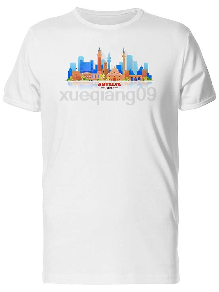 Antalya Turkey City Skyline Tee Mens -Image by Shutterstock
