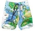 Free Shipping 2017 New Board Shorts Map Board Shorts Men's  Beach Shorts Beach Short For Man lxy455