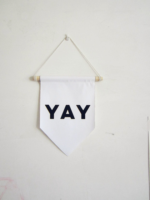 YAY canvas banner,motivation wall quote,Nursery decor wall hanging ...