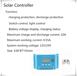 Image 4 - 10W home Solar System 18V solar panel with solar controller cable DIY kit