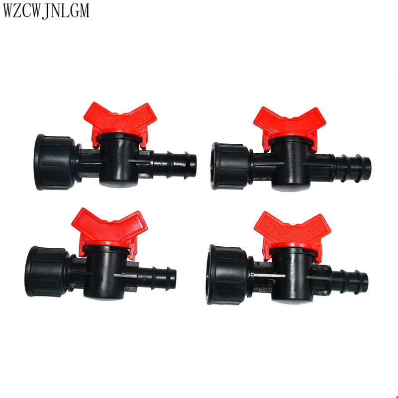Female G1/2 G3/4 To 16mm 20mm Hose Irrigation Water Valve Faucet Connector Micro Valve Water Stop Connector Built-in Seal 1pcs