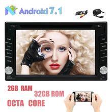 Бесплатная две камеры! Android 7.1 стерео Сенсорный экран dvd-плеер Поддержка GPS навигации Радио Bluetooth OBD2 USB SD Wi-Fi dab +