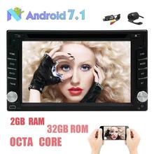 Free Dual Cameras!! Android 7.1 Car Stereo Touch Screen DVD Player Support GPS Navigation Radio Bluetooth OBD2 USB SD WiFi DAB+