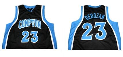 f5a9dfe20f6 Demar derozan #23 compton high school jersey new black,throwback Stitched  Basketball Rev30 Mesh Jersey,Free Shipping !
