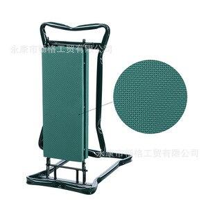 Image 3 - A, pelador de jardín con asas taburete de jardín plegable de acero inoxidable con almohadilla de frotamiento EVA suministros de regalos de jardinería