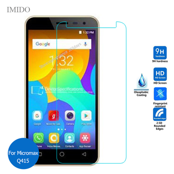 For Micromax Spark Video Q415 Tempered Glass Screen Protector 2.5 9h Safety Protective Film on Q 415