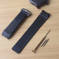 Deployment Silicone Rubber watchbands curved end 22mm Bands For Gear S3 Frontier with free tool and 2 pins replacement convient