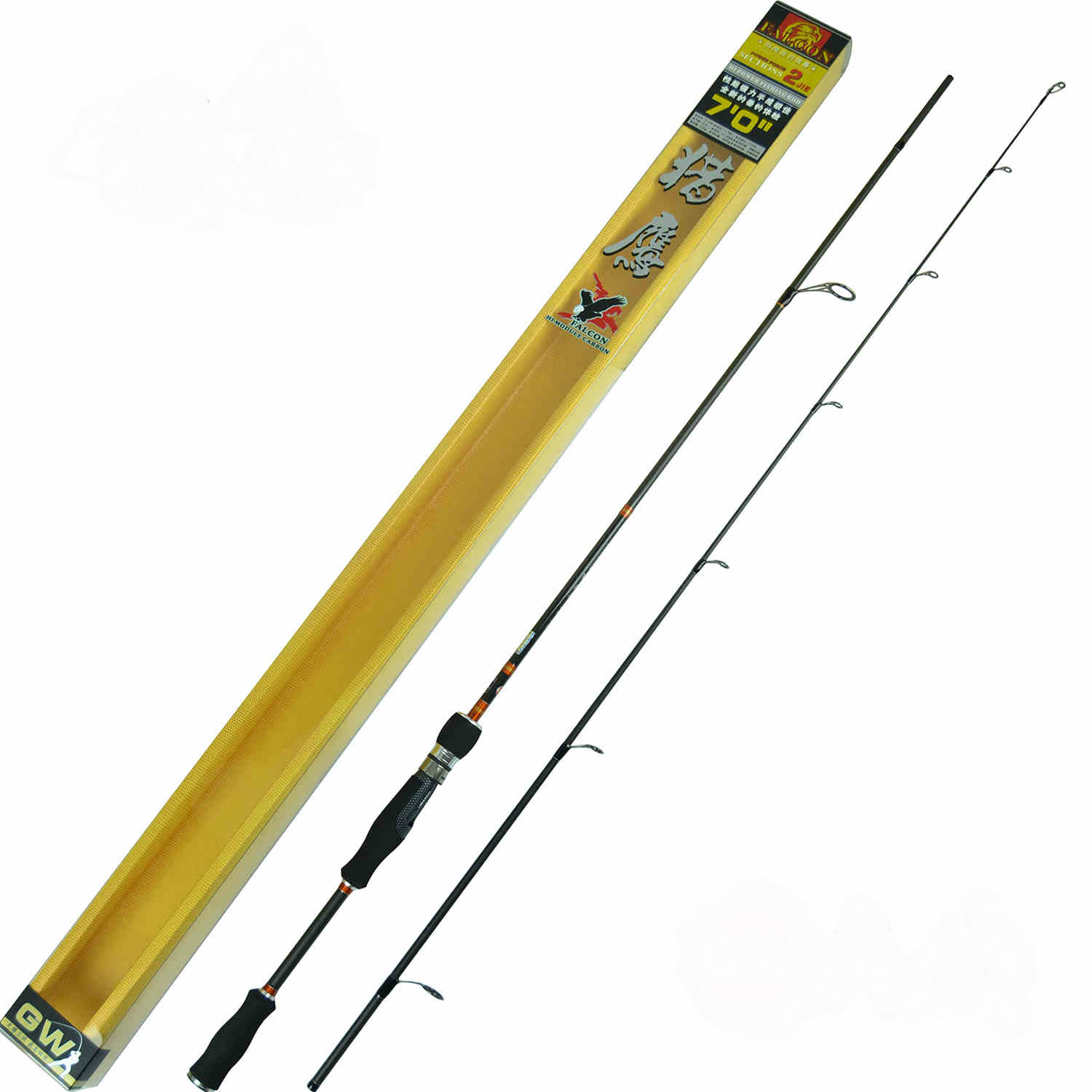 Spinning Lure Rod 1.83/1.97/2.1m Hard Carbon 2 Sections Lure Fishing Rod цена