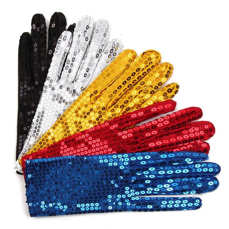 Vuxenverkande Michael Jackson Cos Paillettehandskar MJ Sequins som utför  handskar i scenhandskar för mänkvi. fdb563a4286f0