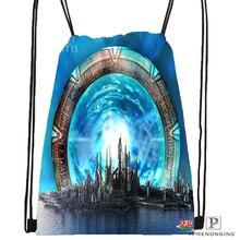 Custom Stargate Atlantis Drawstring Backpack Bag Cute Daypack Kids Satchel (Black Back) 31x40cm#180531-03-59