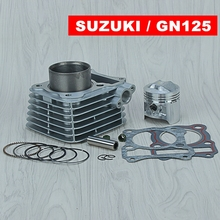 57 мм комплект цилиндров и поршневой комплект и прокладка все Наборы для Suzuki GS125 GN125 125CC GS GN 125 мотоцикл с воздушным охлаждением
