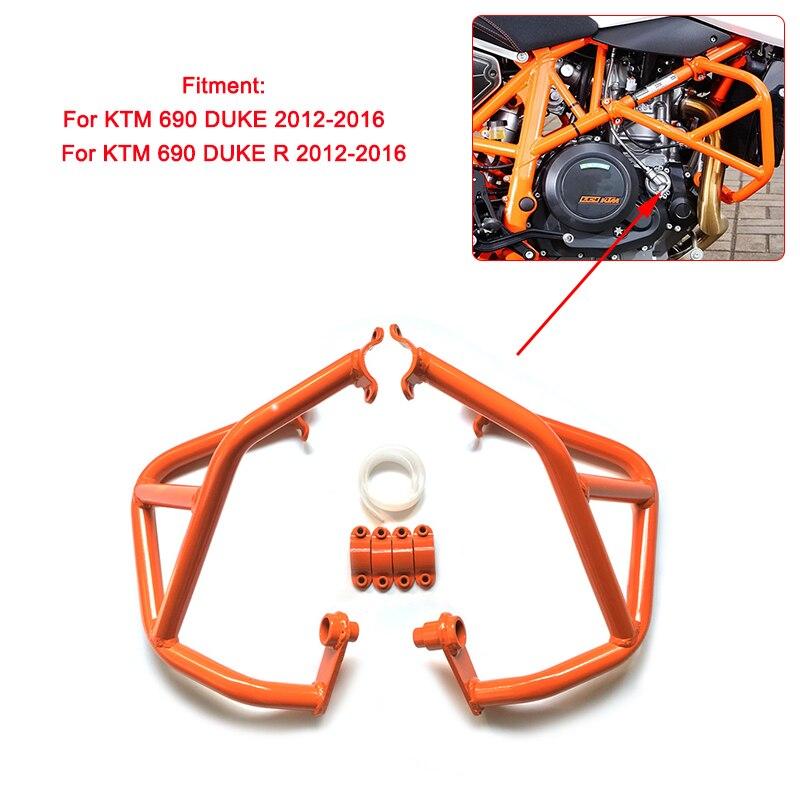 For KTM 690 DUKE 690 DUKE R 2012 2013 2014 2015 2016 Motorcycle Engine Bumper Guard Crash Bars Frame Protector Orange