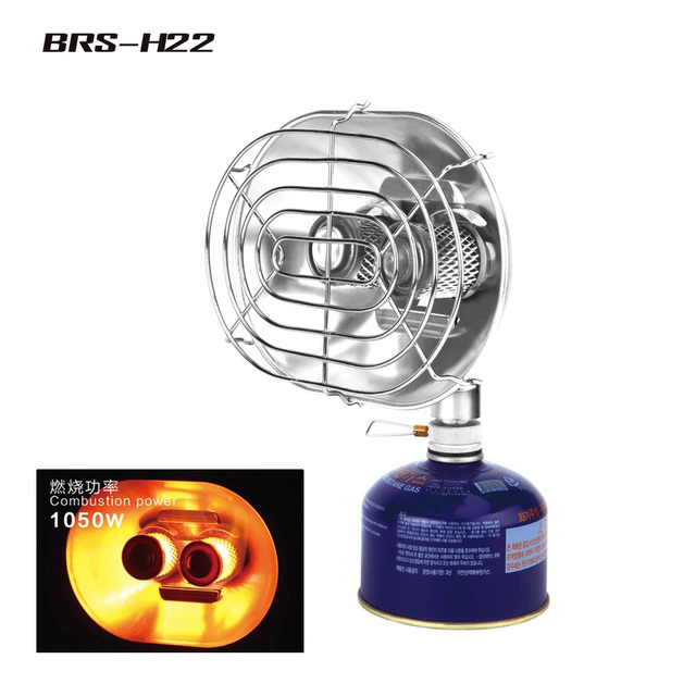 BRS-H22 Portable Gas Heater Outdoor Camping Warmer Heater Double Burners Heating Furnace Stove Infrared Ray Gas Heater Tools