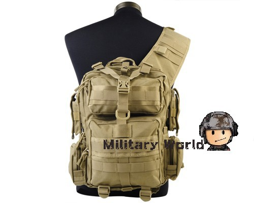 ФОТО Hunting Tactical 1200D Nylon MOD Single Shoulder Bag Outdoor Airsoft Military Hiking Molle Durable Adjustable Backpack Free Ship
