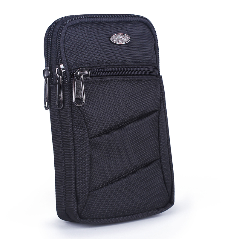 Nylon Unisex Cell Mobile Phone Case Cigarette Bag Fanny Belt Waist Pack Hook Fashion Light High Quality Male Small Shoulder Bags