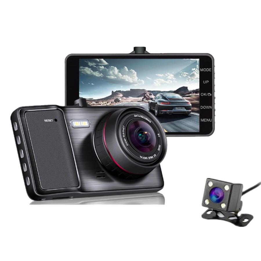 New Mini Car DVR 1296P Full HD 1080P Dual Lens Car Camera With ADAS LDWS Dash