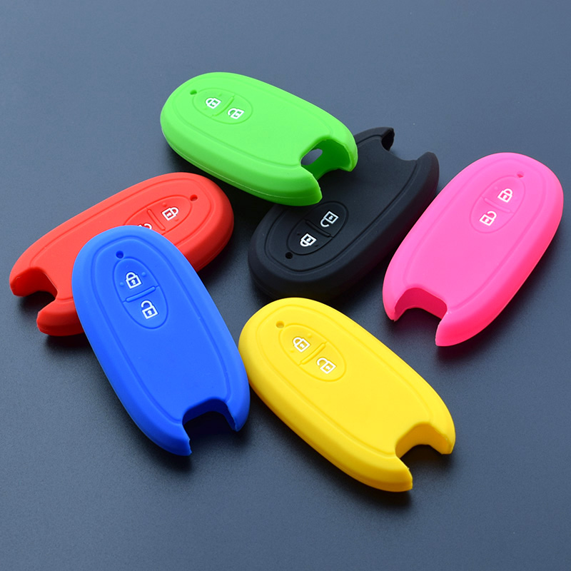 Silicone Rubber Key Fob Protect Cover Case Skin For SUZUKI Swift Sport SX4 SCORSS Grand Vitara Wagon R Stingray Remote Keyless