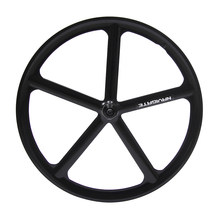 Magnesium Alloy road bike 700C wheel 5 spokes fixie Bicycle Mag TRI front rear wheel Mag Alloy Fixed gear bike wheels Rims(China)