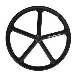 Magnesium Alloy road bike 700C wheel 5 spokes fixie Bicycle Mag TRI front rear wheel Mag Alloy Fixed gear bike wheels Rims