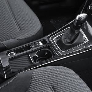 Image 3 - For golf 7 carbon fiber car stickers Golf MK7 interior modification water cup box control gear block decorative frame bright