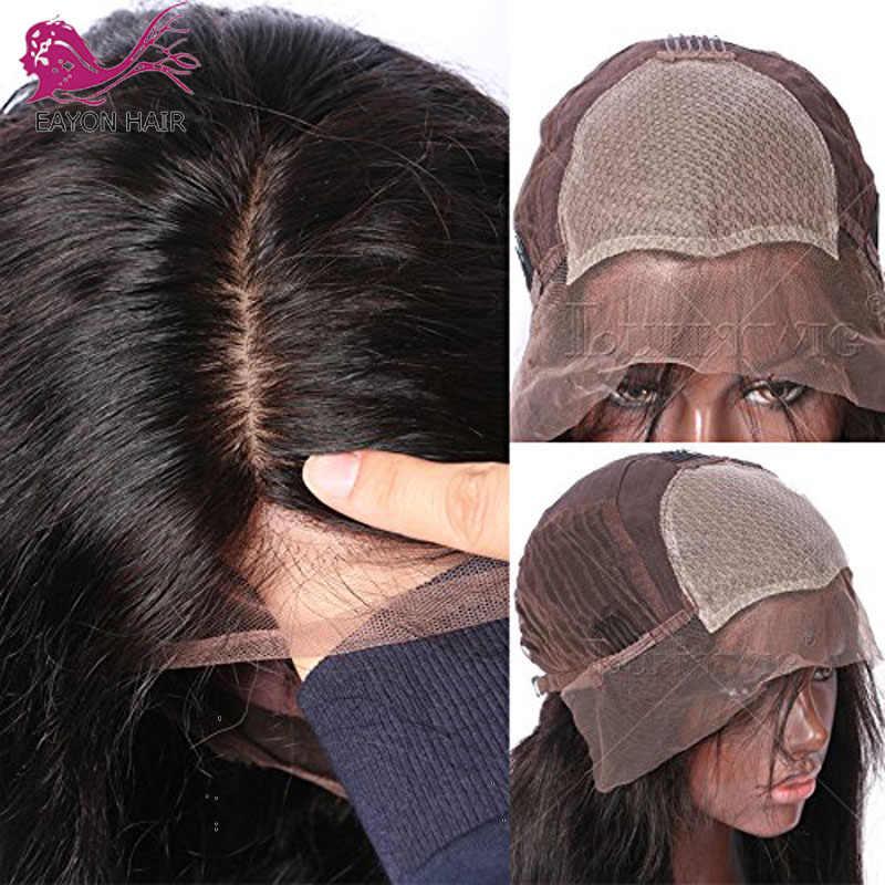 Eayon Silky Straight 5X4.5 Zijde Basis Lace Front Menselijk Haar Pruiken Met Baby Haar Pre Geplukt Haarlijn Peruaanse remy Haar