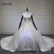 Vestido De Novia 2017 Sleeveless Lace Cathedral Empire Wedding Dress Bridal Gown Custom Made Robe De MariageLace Up Back