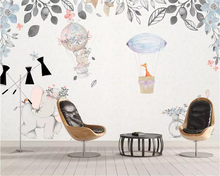 beibehang European-style hand-painted cartoon HD Mural animal hot air balloon children room background wall decoration wallpaper free shipping cartoon wallpaper children room bedroom retro wood frame background wallpaper hand painted animal mural
