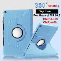 Mediapad M5 10 8 360 Degree Rotating Folio PU Leather Case Flip Cove Rfor Huawei MediaPad