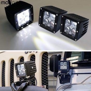 4pcs 20W High Power 4D 3 Inch LED Pod Lights Universal Fit For SUV Truck Off-Road ATV Car Motorcycle Headlights