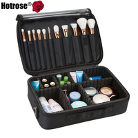 Makeup Train Case 3 Layers Cosmetic Organizer Beauty Artist Storage Brush Box For Brush Set And