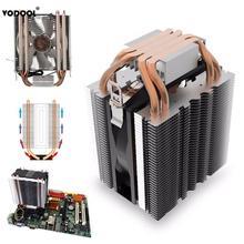 Процессор кулер вентилятор 4 Heatpipe радиатор синий светодиод гидравлический подшипник тихий 3 контакты Процессор кулер вентилятор радиатора для Intel Core AMD Универсальный