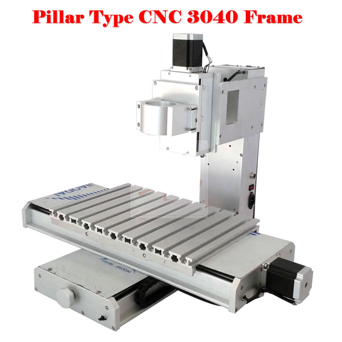 3040 pillar type cnc milling machine frame 3 axis  ball screw china factory cnc frame kit cnc 3020z diy frame with ball screw optical axis and bearings for cnc milling machine