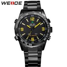 Casual WEIDE Sport Watches Men Digital Luxury Brand Logo Quartz-Watch Army Stainless Steel Waterproof Relogio Masculino WH1009