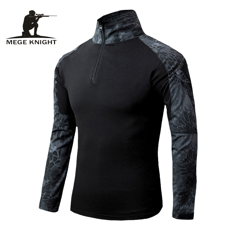 MEGE Männer Military Airsoft Combat Shirt Frosch Hemd, Taktische Getriebe Multicam Typhon Leichte Schnelle Assault Langarm Hemd