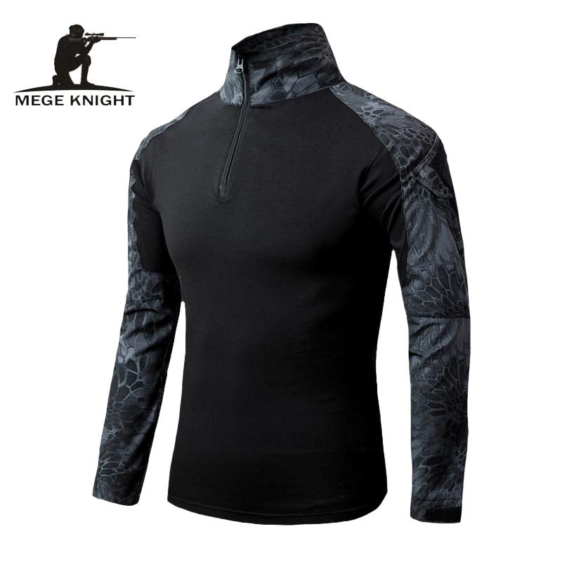 MEGE Men Military Airsoft Combat Shirt Frog Shirt, Tactical Gear Multicam Typhon Lightweight Rapid Assault Long Sleeve Shirt
