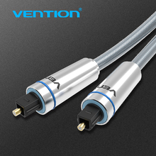 Vención Cable de Audio Digital Óptica SPDIF Toslink Chapados En Oro de 1 m 2 m Cable Coaxial para Blu-ray CD Dvd Xbox 360 PS3 AV TV