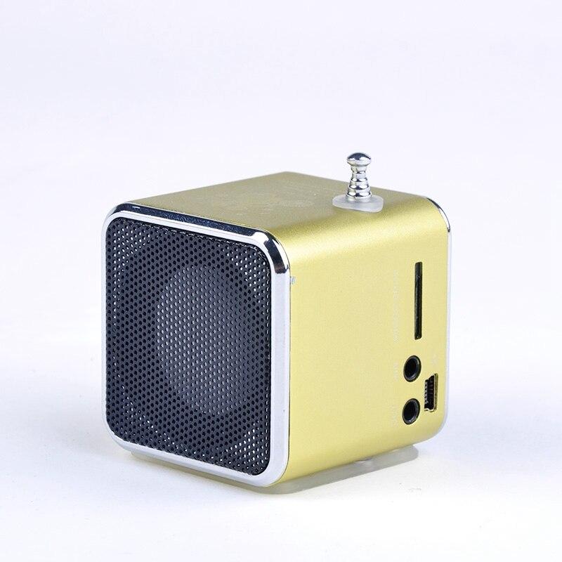 Precio de la promoción Única TD-V26 Micro SD TF USB Mini Altavoz MP3 Reproductor de música Portátil Radio FM Estéreo Para PC Portátil 5 colores