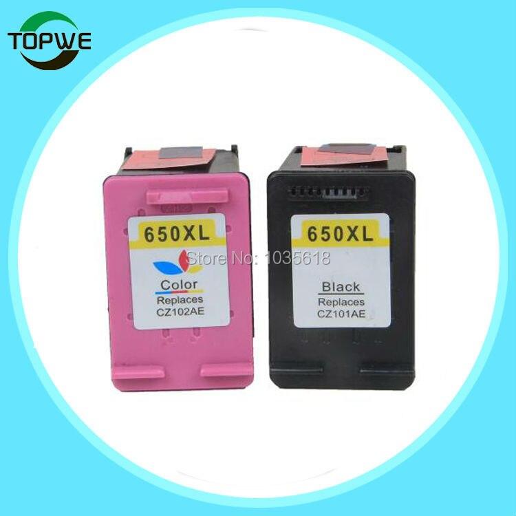 все цены на  2 Pack Ink Cartridge Compatible for HP 650 XL for HP Deskjet Ink Advantage 1015 1515 2515 2545 2645 3515 3545 4515 4645  онлайн