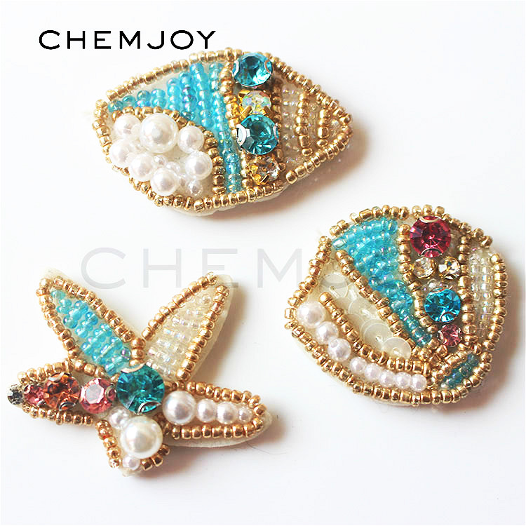 18 mm sew on clés on Jewel Gem Crystal Rhinestone TURQUOISE AB Peacock Dance
