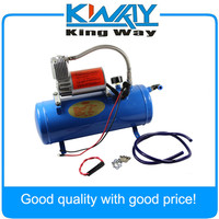 150PSI DC 12V AIR COMPRESSOR WITH 6 LITER TANK FOR TRAIN HORNS MOTORHOME TIRES