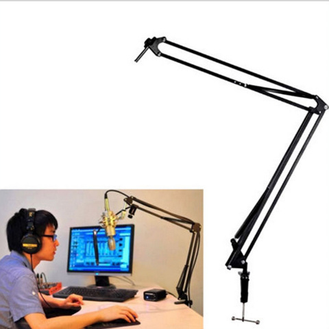 Adjustable Desktop Mic Microphone Stand Suspension Boom Scissor Arm