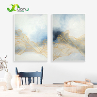 2 Piece Wall Art Decor Hand Painted Canvas Oil Paintings Abstract Handmade Picture For Living Room Modular Painting Art Unframed