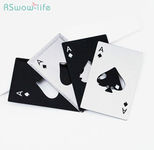 Creative Spades A Opener Poker Card Opener Stainless Bottle Opener Creative Gifts Festival Party Supplies цена 2017