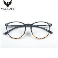 Vazrobe 최고의 Tr90 안경 라운드 프레임 남성 여성 복고풍 안경 근시 안경 처방 여성의