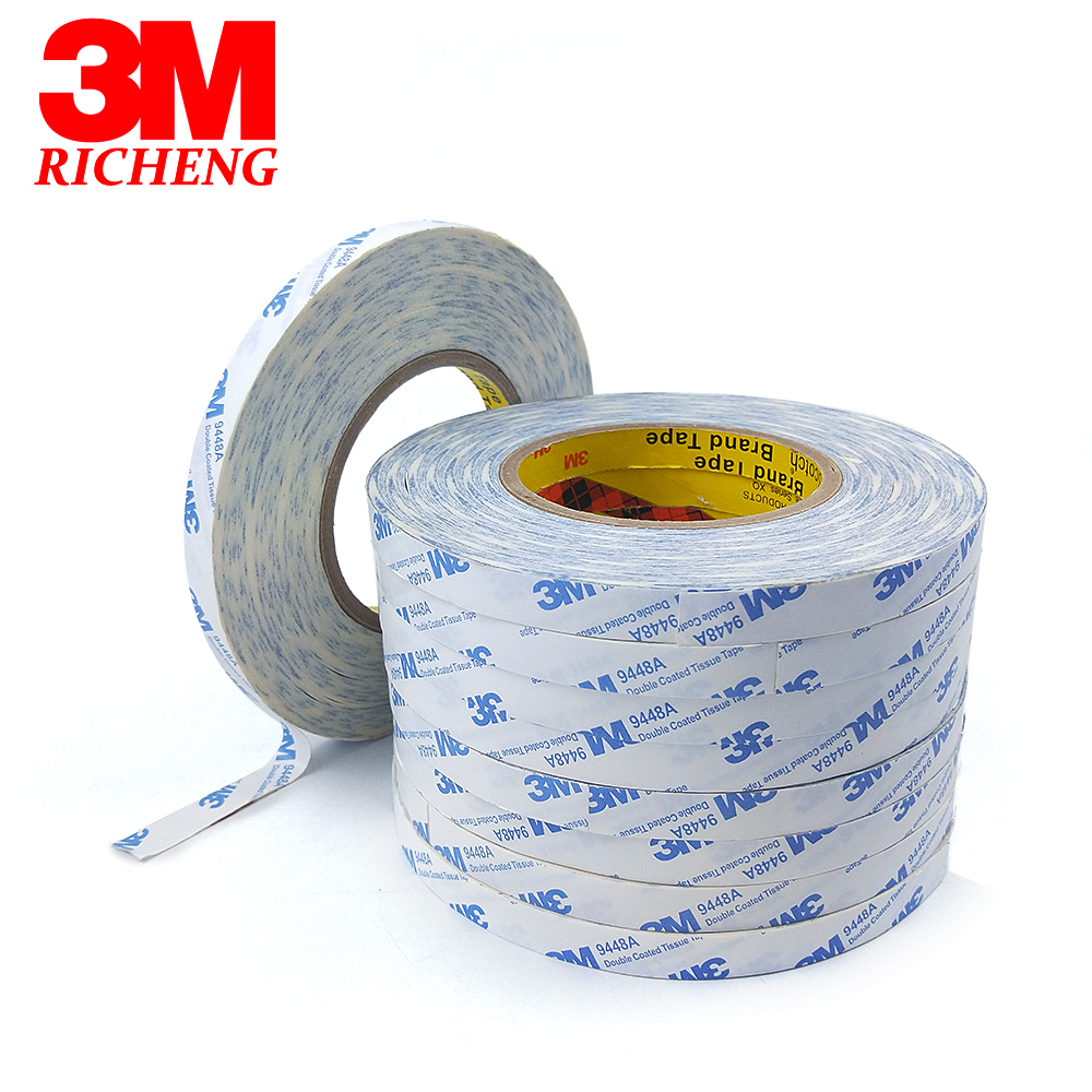3M brand tape 9448A VHB double sided tape clear transparent acrylic 0.8mm thickness 3M tape 1piece 3m vhb 5952 heavy duty double sided adhesive acrylic foam tape black 150mmx100mmx1 1mm